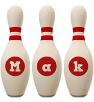 Mak bowling-pin logo