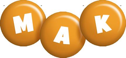 Mak candy-orange logo