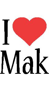 Mak i-love logo