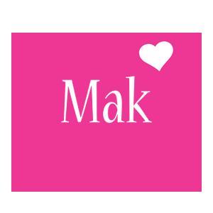 Mak love-heart logo