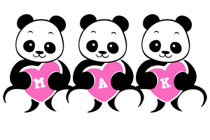 Mak love-panda logo
