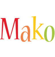 Mako birthday logo