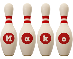 Mako bowling-pin logo