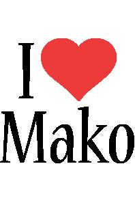 Mako i-love logo