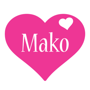Mako love-heart logo