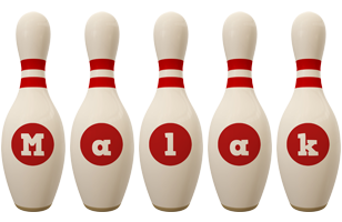 Malak bowling-pin logo