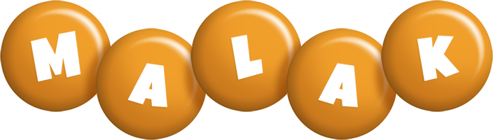 Malak candy-orange logo