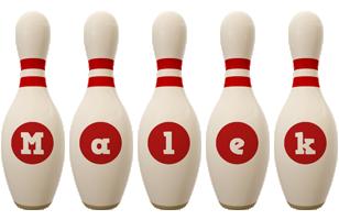 Malek bowling-pin logo