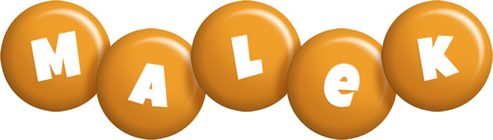 Malek candy-orange logo