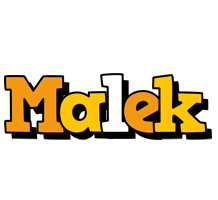 Malek cartoon logo