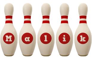 Malik bowling-pin logo