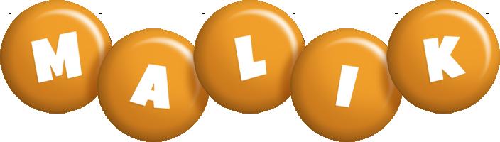 Malik candy-orange logo
