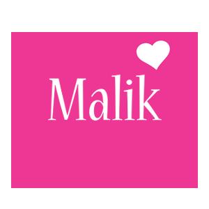 Malik love-heart logo