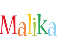 Malika birthday logo