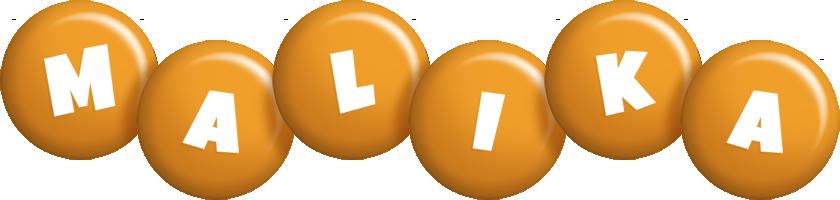 Malika candy-orange logo