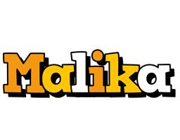 Malika cartoon logo