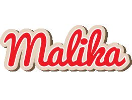 Malika chocolate logo