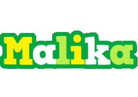 Malika soccer logo