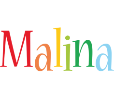 Malina birthday logo