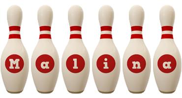 Malina bowling-pin logo