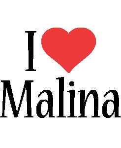 Malina i-love logo
