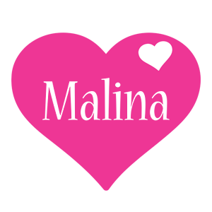 Malina love-heart logo