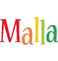 Malla birthday logo