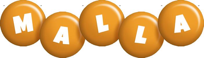 Malla candy-orange logo