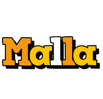 Malla cartoon logo