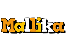Mallika cartoon logo