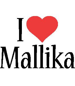 Mallika i-love logo