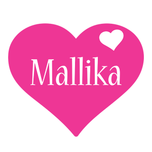 Mallika love-heart logo