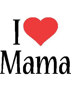 Mama i-love logo
