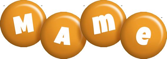 Mame candy-orange logo