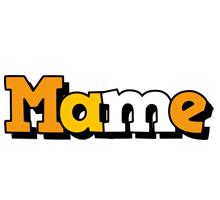 Mame cartoon logo