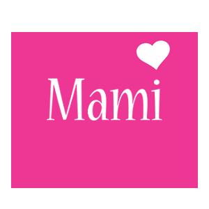 Mami love-heart logo