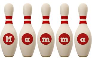 Mamma bowling-pin logo