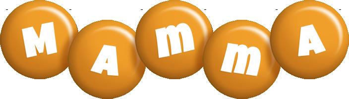 Mamma candy-orange logo