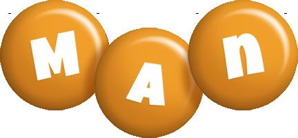 Man candy-orange logo