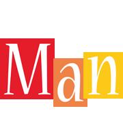 Man colors logo