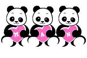 Man love-panda logo