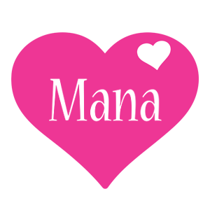 Mana love-heart logo