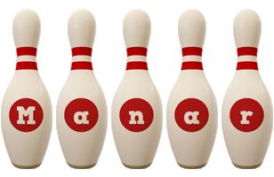 Manar bowling-pin logo