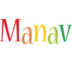 Manav birthday logo