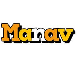Manav cartoon logo