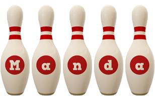 Manda bowling-pin logo
