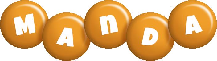 Manda candy-orange logo