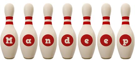 Mandeep bowling-pin logo