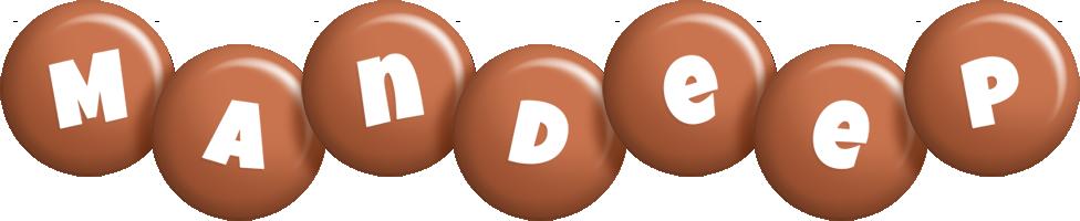Mandeep candy-brown logo