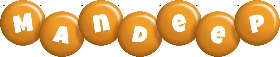 Mandeep candy-orange logo
